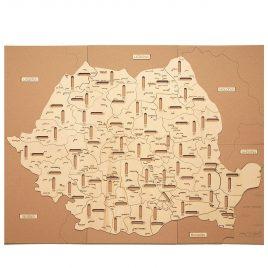 Puzzle Hartă România – Orașe și Județe