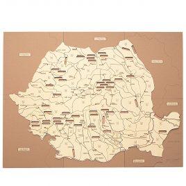 Puzzle Hartă România – Râurile
