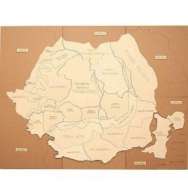 Puzzle Hartă România – Forme de Relief