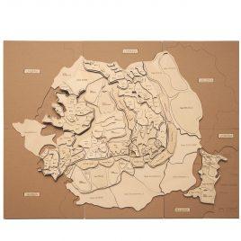 Puzzle Hartă România – Munții și Podișurile